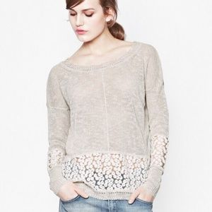 French Connection Lace Embroidered Laila Sweater